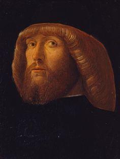 A Bearded Man, Giovanni Bellini (Italian, 1431 – 1516), Tempera on panel, c. 1485, Philbrook Museum. Hombre con barba por Giovanni Bellini, témpera de la década de 1480.