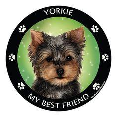 Yorkshire Terrier Yorkie My Best Friend Dog Breed Magnet #yorkshireterrier