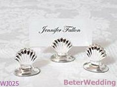 Aliexpress.com : Buy Silver Plated Shell Place Card Holder WJ025 use as wedding giveaways or favor, gifts from Reliable wedding gifts suppliers on Your Unique Wedding Favors $192.00