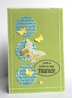 Earth Day Card by Ellen. An earthy way to say thanks!  Try Core'dinations Amazon cardstock for a similar result. Find this cardstock and more at www.cardstockshop.com!