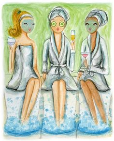 we love treating ladies at the Spa! Pamper with your girlfriends for ladies night or Spa party! Teen Spa Party, Pamper Party, Ladies Night, Girls Night Out, Girl Night, Spa Night, Cute Paintings, Beautiful Paintings, Spa Day At Home