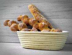 Mini-Bagietki na zakwasie pszennym Sausage, Almond, Food And Drink, Bread, Inspiration, Brot, Sausages, Breads, Baking