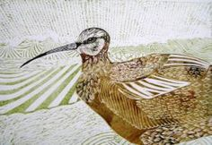 In the spring the curlew's melancholy cry contrasts with the lapwing's lively call. (20cm x 29cm)