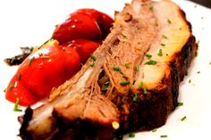Coaste de porc caramelizate la cuptor ..... Steak, Food, Eten, Steaks, Meals, Beef, Diet