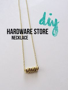bolt necklace diy- such a fun gift idea!