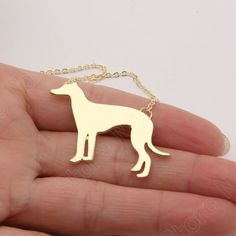 Aliexpress.com : Buy 1pcs Greyhound Animal Long Necklace Necklaces & Pendants Cute Gold Choker Necklace Women Dog Pendant Necklace   Christmas Gift from Reliable long necklace suppliers on Paw Paw House Urbanlife Store