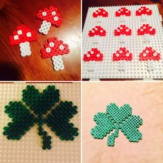 Small crafting idea for New Year's Eve – lucky mushrooms and shamrocks made of beads – Elly's Do it yourself Pinner Elly Pirelly Quelle epirelly Bildgröße 736 x 736 Boardname Bastel- und Dekoideen Ansichten 504 Diy For Kids, Crafts For Kids, Diy And Crafts, Paper Crafts, Hobbies To Try, Fusion Beads, Handmade Beaded Jewelry, Perler Patterns, Nouvel An