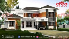 CREO HOMES have most experienced and professional interior designers and architects in Kochi(Cochin),Kerala. Our team of engineers and architects are highly talented and enthusiastic about building the perfect home for you at its best. House Architecture Styles, Residential Architecture, Architecture Design, Kochi, New Home Designs, Kerala, New Homes, House Design, Contemporary