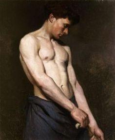 "Albert Edelfelt (Finnish: 1854 –1905) was a Swedish-speaking Finnish painter | ""Male-Nude-3"""