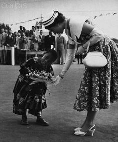 Queen Elizabeth, February 1, 1956 in Nigeria