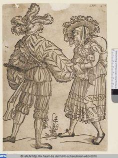 1500 - 1540 Hans Leonhard Schäufelein - Rifleman and his wife (Büchsenschütze und seine Frau)