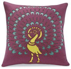 Peacock Pillow eclectic pillows