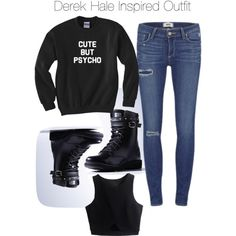 Teen Wolf - Derek Hale Inspired Outfit by staystronng on Polyvore featuring Paige Denim, adidas, derekhale and tw