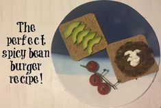The perfect spicy bean burger recipe....   The Diary of a Frugal Family Frugal Family, Bean Burger, Burger Recipes, Yummy Food, Delicious Recipes, Vegan Vegetarian, Smoothies, Fries, Spicy