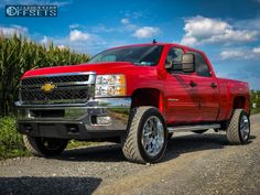 This 2011 Chevrolet Silverado 2500 HD is running XD Riot wheels Nitto tires with Stock Stock suspension. Gm Trucks, Chevy Trucks, Pickup Trucks, 2011 Silverado, Chevrolet Silverado 2500, Gmc Sierra 2500hd, Tyre Fitting, Wheels And Tires, Chrome