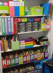 Classroom organization, storage, and decor photos from a veteran teacher