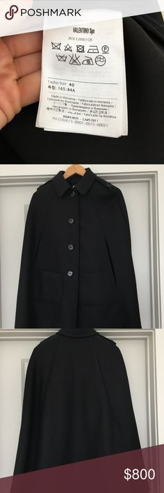 Red Valentino Wool Cape NEW without tags womens Red Valentino Wool Cape RED Valentino Jackets & Coats Capes