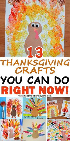 13 THANKSGIVING CRAFTS YOU CAN DO RIGHT NOW! – HAPPY TODDLER PLAYTIME