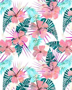 LaniKai {E} Art Print by SchatziBrown #pattern #tropics #tropical