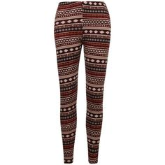 ililily Nordic Snowflakes Fair Isle Soft-touch Knit Blend Winter... ($16) ❤ liked on Polyvore featuring pants, leggings, knit pants, brown leggings, snowflake pattern leggings, fair isle knit leggings and nordic print leggings