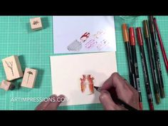Art Impressions Blog: NEW VIDEO! Watercolor Wednesday Series - Clay Pot