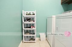 Smart and inexpensive way to organize kids shoes