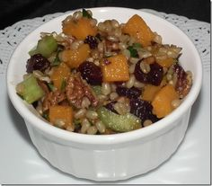 Roasted Butternut Squash And Chickpea Wheatberry Salad Recipe ...