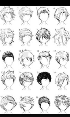 How to draw boy's hair.