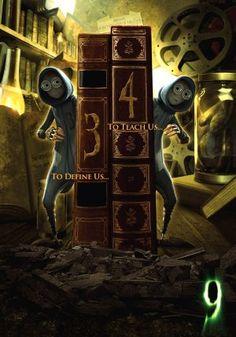 TB195. 3 y 4 / 9 Movie Poster (2009) / Tim Burton production / #Movieposter