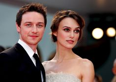 Keira Knightly and James McAvoy atonment premiere in london