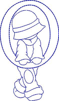 Embroidery Designs Sunbonnet Alphabet O Embroidery Alphabet, Embroidery Monogram, Machine Embroidery Applique, Applique Patterns, Applique Quilts, Cross Stitch Embroidery, Hand Embroidery, Cross Stitch Patterns, Quilt Patterns