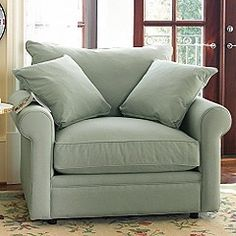 This oversized chair looks comfy!