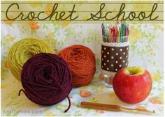 Crochet School - free - 23 lessons with video tutorials, written instructions, graphics, etc.