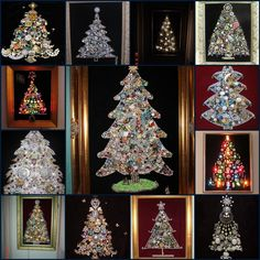 I have a pile of jewlery and am planning my very own vintage jewelry Christmas tree... I like the one in the very middle.
