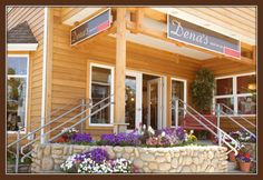 Dena's Shop on the Corner - Women's Clothing Boutique in Oregon - My cousin! Cannon Beach Oregon, Wood Facade, Girlfriends Getaway, Dena, Women's Clothing, Pergola, Corner, Outdoor Structures, Spaces