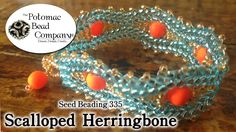Video: Make Scalloped Herringbone Stitch - or what happens between the rows?  ~ Seed Bead Tutorials