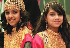 """Turkish girls in traditional gold jewelry.  Inspiration for the """"chain"""" that is so central to the story!"""