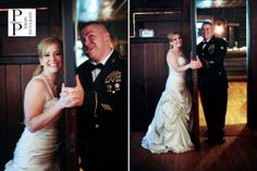 Bride & Groom before the wedding without seeing one another: Phillips Photography