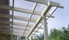 polycarbonate pergola cover attached to wall - Google Search
