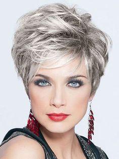 Grey Granny Hair Wigs Layered Boycuts To - Hair Beauty Grey Hair Gel, Short Grey Hair, Short Hair With Layers, Short Hair Cuts For Women, Layered Hair, Short Hairstyles For Women, Wig Hairstyles, Edgy Short Haircuts, Pixie Haircuts