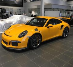 Porsche 991 GT3 RS painted in paint to sample Signal Yellow Photo taken by: @ac_satco on Instagram
