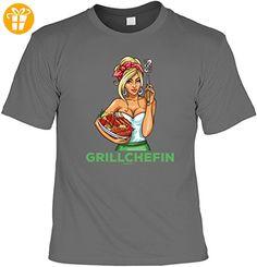 Griller T-Shirt - GRILL CHEFIN - FunHemd für BBQ und Grillen - Shirts mit