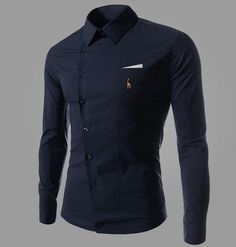 Gender: Men Item Type: Shirts Closure Type: Single Breasted Material: Cotton,Polyester Collar: Turn-down Collar Sleeve Length: Full Shipping: FREE - Worldwide!