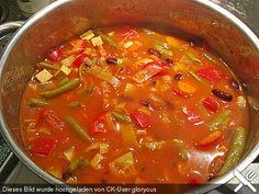 Serbische Bohnensuppe vegetarisch