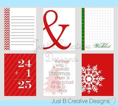 Project Life Printables - also great for the doodlebug page protectors.