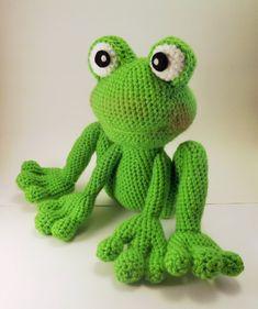 Froggy patrón Amigurumi rana patrón de por LisaJestesDesigns