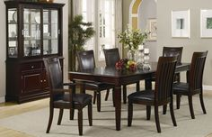 10 Piece Bordeaux Formal Dining Room: Table 8 Chairs Buffet w/China Hutch NEW Large Dining Room Table, Formal Dining Tables, Dining Room Furniture Sets, Royal Furniture, Dining Room Sets, Dining Room Design, Dining Room Chairs, Side Chairs, Coaster Furniture
