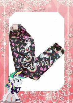 Calzas leggins para Nena diseño unicornios Rock Primavera Verano Glam girl outfits Puro Glam kids