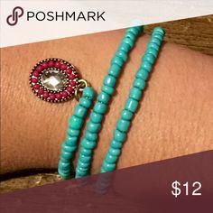 Wrap Bracelet 1 Turquoise wrap bracelet! Let me know if any questions! ❤️❤️❤️ Jewelry Bracelets