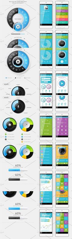 Elements of Infographics. UI Elements
